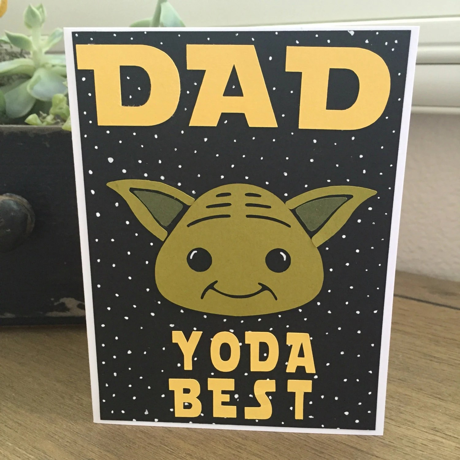 Dad yoda best just because or any occasion card star wars, friend loves all times coloring page