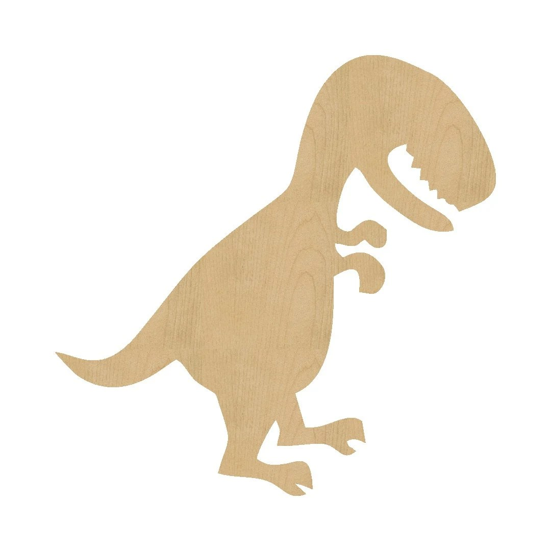 T Rex Dinosaur Shape Laser Cut Unfinished Wood Shapes Craft