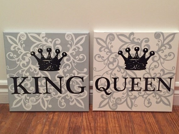 Mbosmadesigns King Amp Queen Wall Art Customization Available