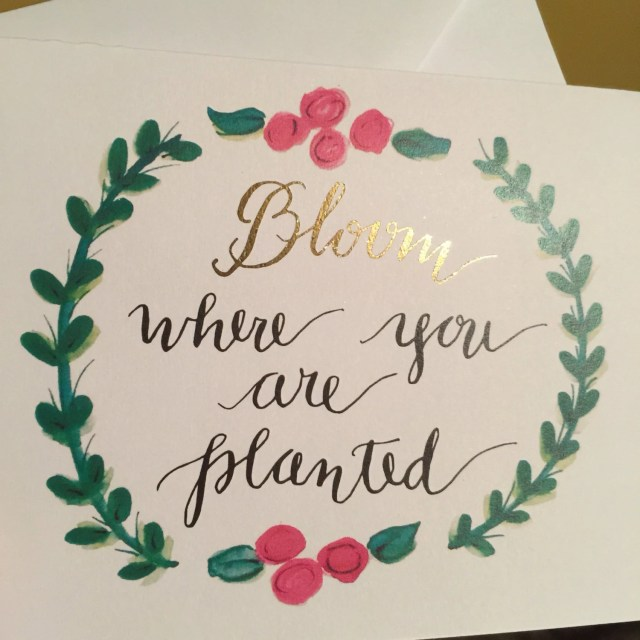 Bloom Gold Foiled Greetin...