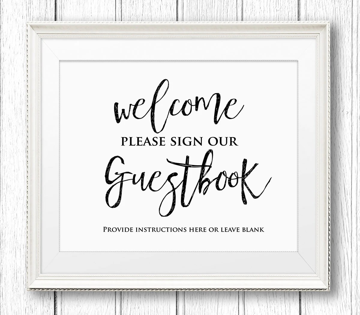 Wedding Guestbook Sign Printable Wedding Guest Book Sign