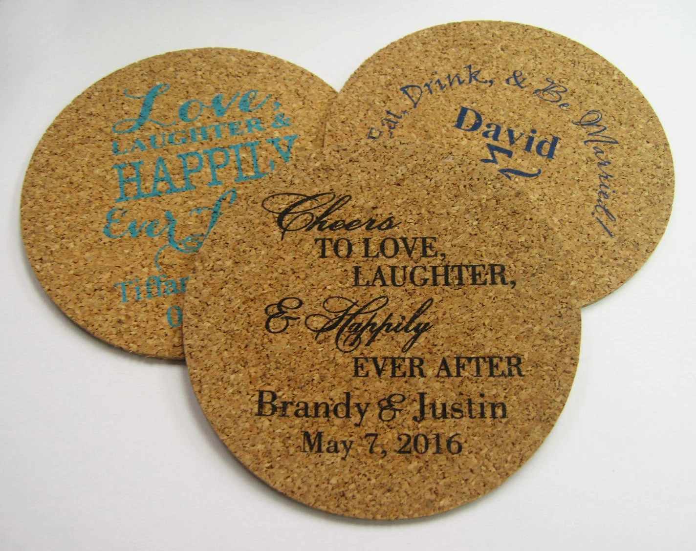 Wedding Favors Coasters 150 Round Cork Drink Coaster Custom