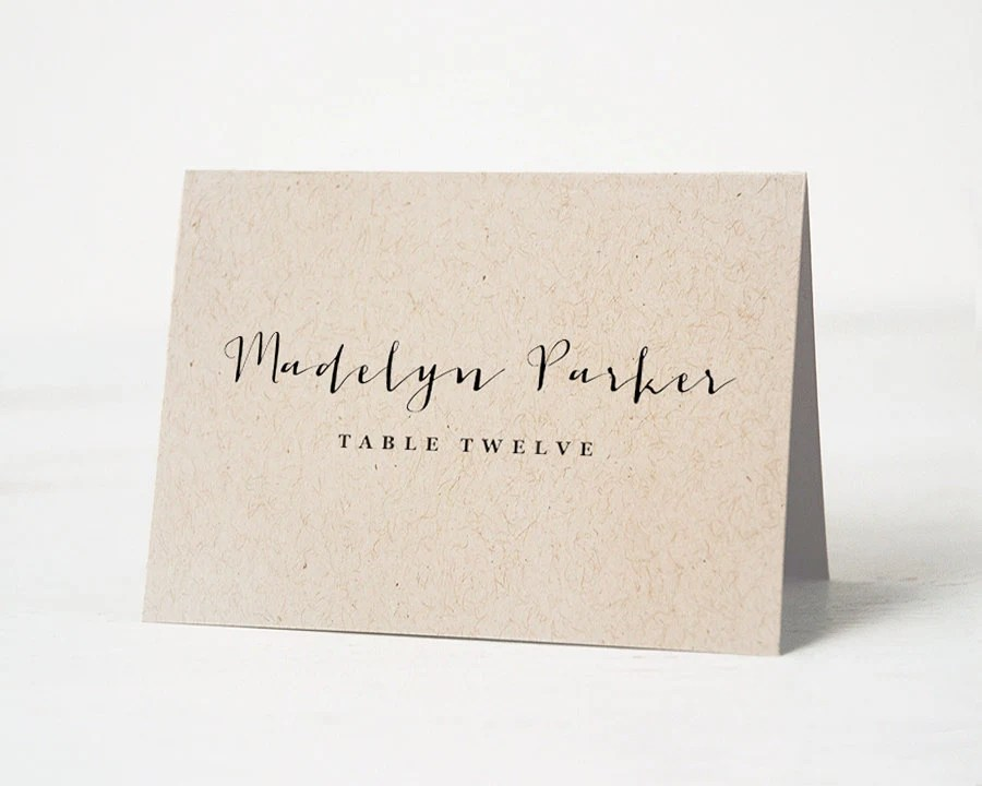 Printable Place Card Template Wedding Place Cards Escort