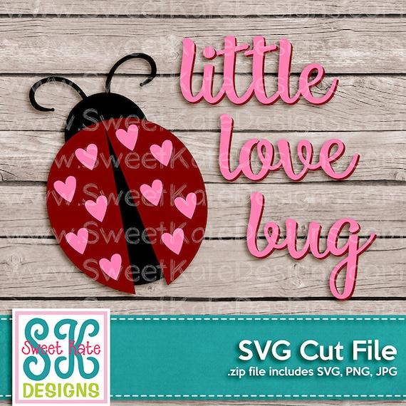Download Little Love Bug SVG JPG PNG Valentine Cricut Silhouette
