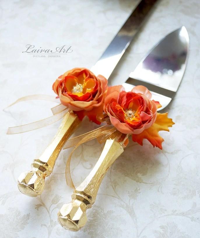 Fall Wedding Cake Knife