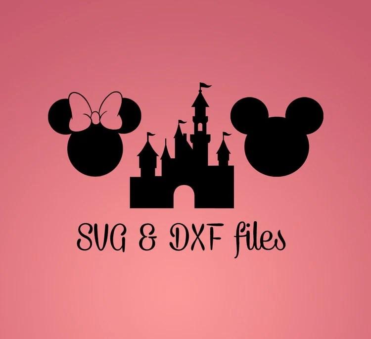 Download Mickey Mouse SVG DXF cut files Disney Castle by WorldDigi ...