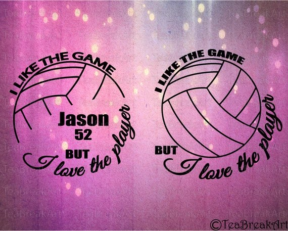 Download I like the game but I love the player volleyball Monogram