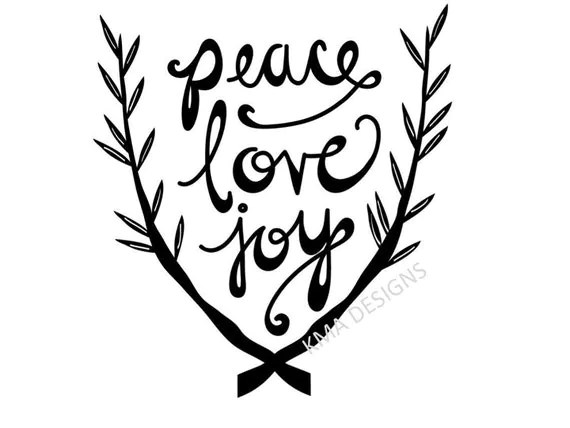 Download Items similar to Peace Love Joy Christmas SVG Cut File ...
