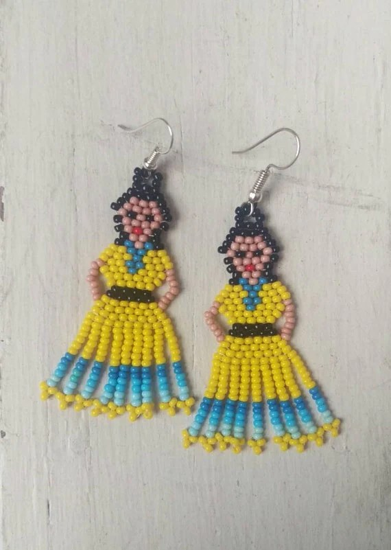 Yellow Dress Earrings