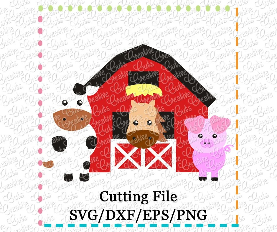 EXCLUSIVE Barn With Animals Svg Cutting File Farm Animals