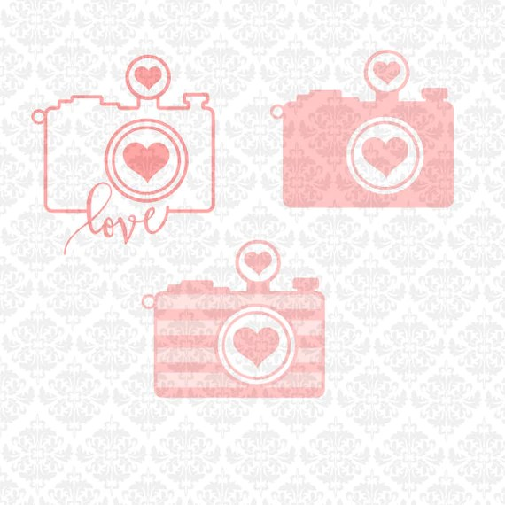Download Camera Heart Chevron Love Outline I shoot by CraftyLittleNodes