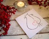 Romantic card for cat lov...