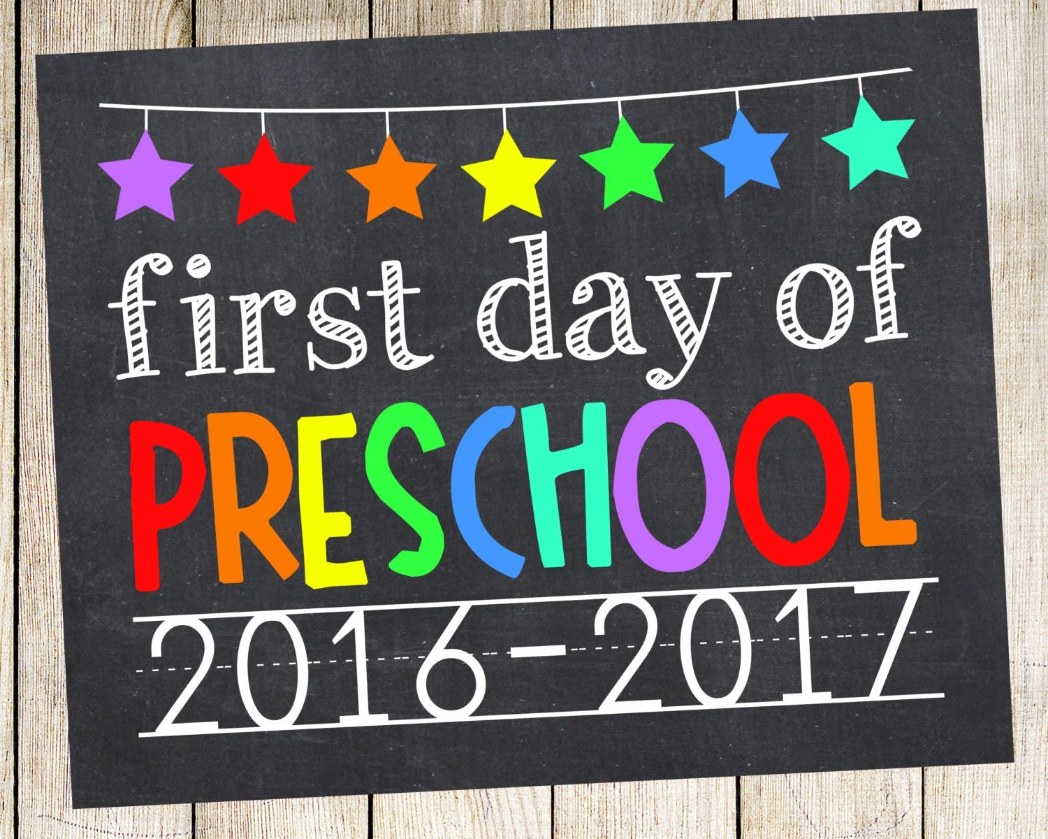First Day Of Preschool Photo Prop By Princesssnap