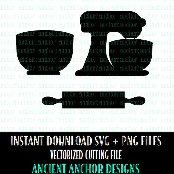 Download SVG File Commercial Use OK Standing Mixer & Kitchen SVG Files