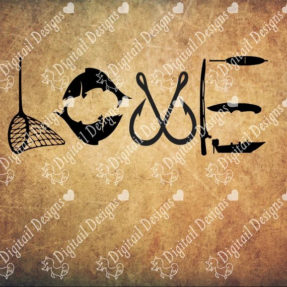 Download Fishing Love Svg Png Dxf Eps Fcm Cut file for Silhouette