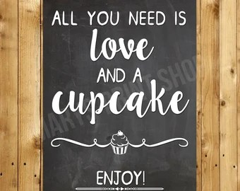 Download All you need is love and a cupcake wedding decor. Candy bar