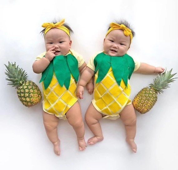 pineapple costumes for babies or twins