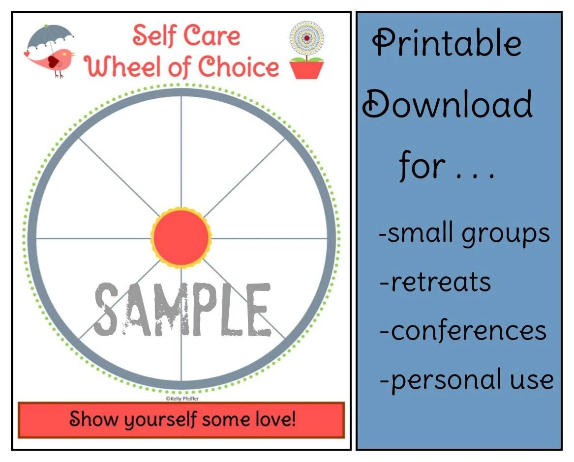 Self Care Wheel Of Choice Bird And Flower