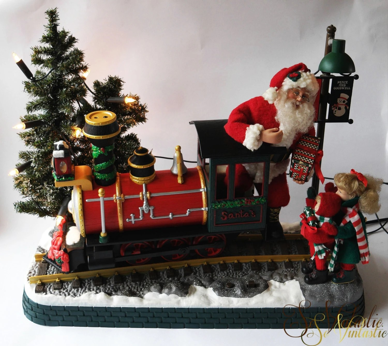 RARE Santas Choo Choo Train By Holiday Creations Large