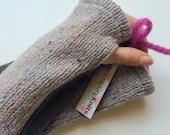 Fingerless Knit Mittens. ...
