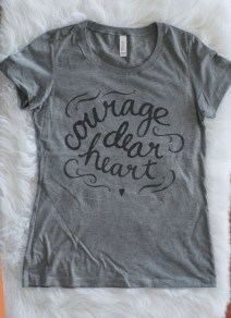 "Womens T-shirt | Narnia ""Courage, Dear Heart"" 