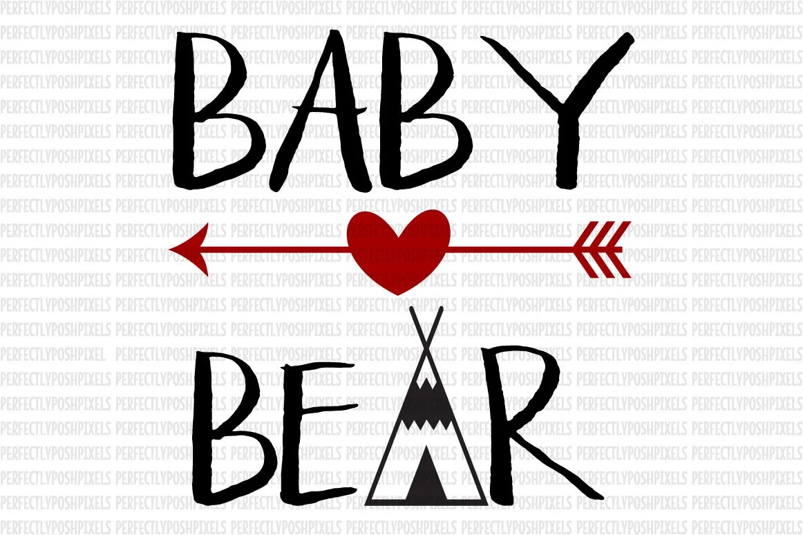Baby Bear Papa Mama Bear Svg Mothers Day Svg Cutting Files For Cricut Silhouette Arrow Svg