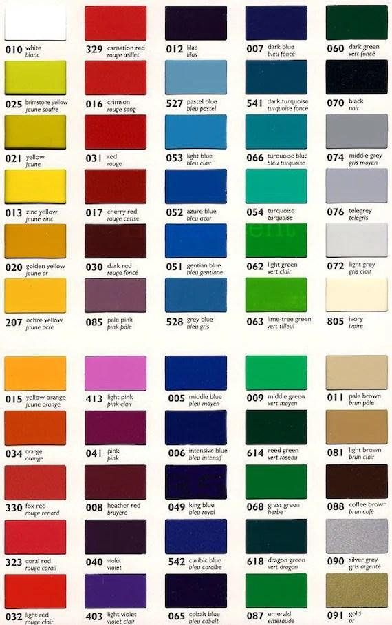 Oracal Translucent Vinyl Color Chart