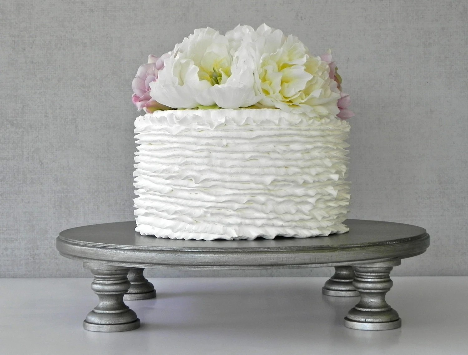 Silver Cake Stand 20 Cupcake Silver Cake Topper Aged