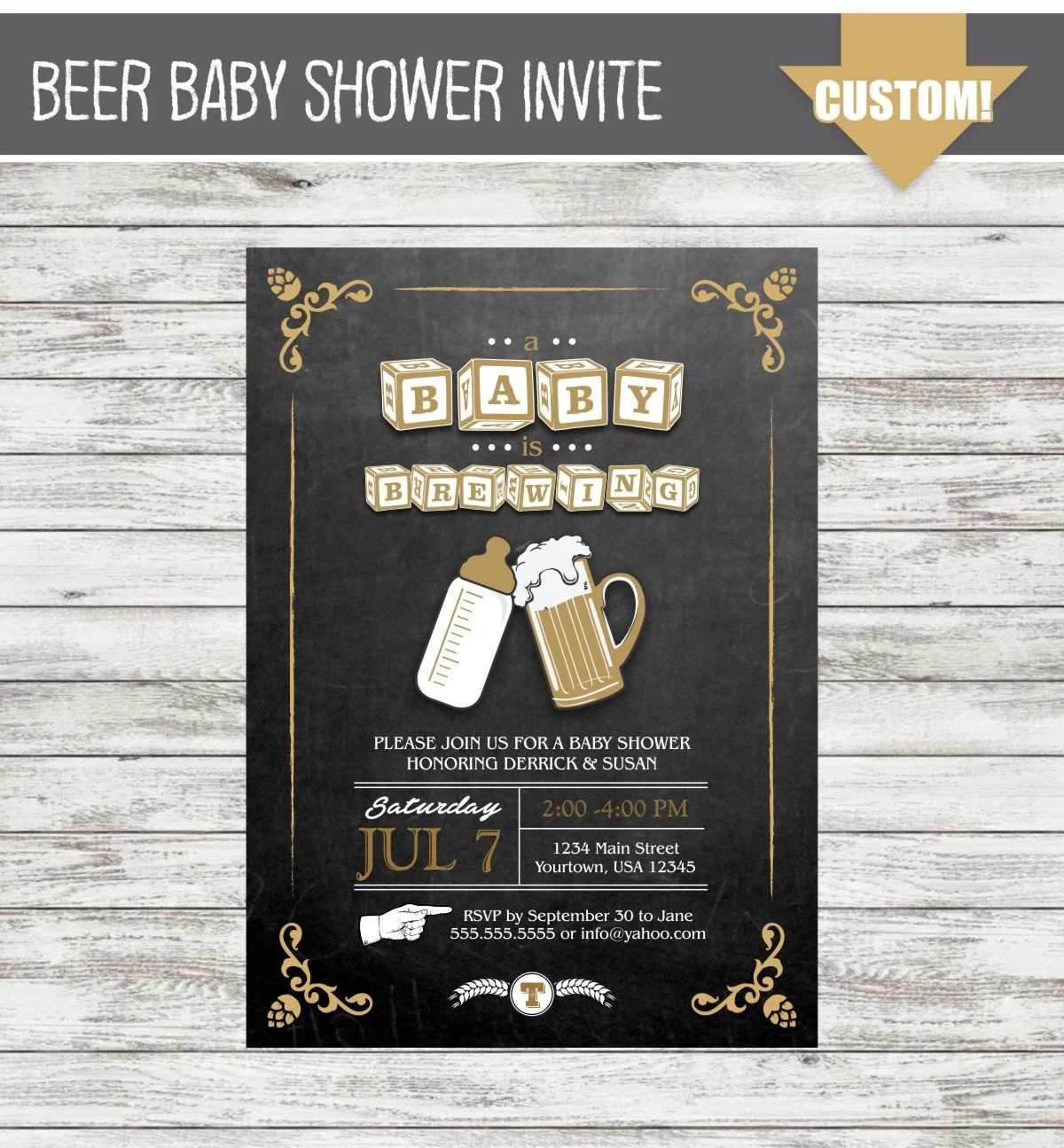 Baby Shower Invitations Coed
