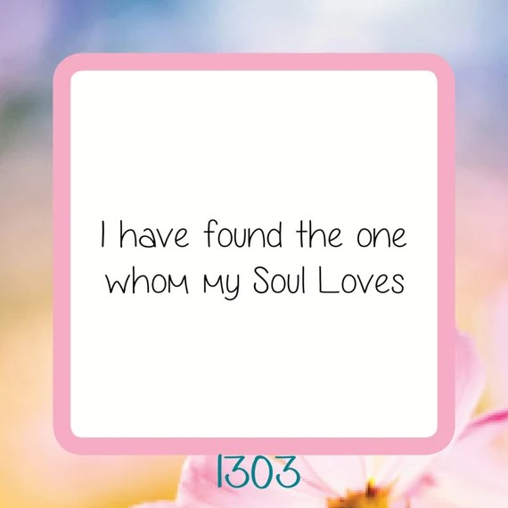 Download I Have Found The One Whom My Soul Loves- Reusable Craft ...