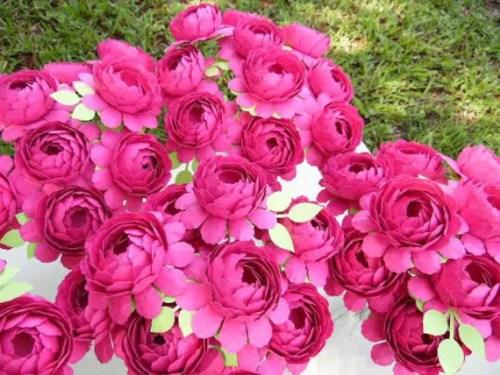 Paper Peony Flowers, SVG Paper Peony Templates, Paper flower tutorial, Paper Wedding Bouquet, DIY Paper flower bouquet, SVG Cutting Files