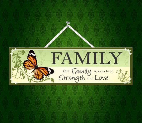 Download Family Sign Our Family is a Circle of Strength and Love