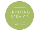 4x6 Card Printing with En...