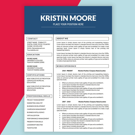 Marketing Resume Template Creative Resume Marketing Cover