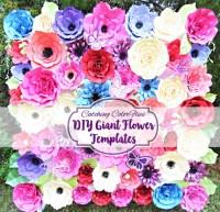 Giant Paper Flower Templates- DIY Paper Flowers- Large Flower Patterns & Tutorials- Paper Flower Wall- Flower Backdrop- Wedding backdrop