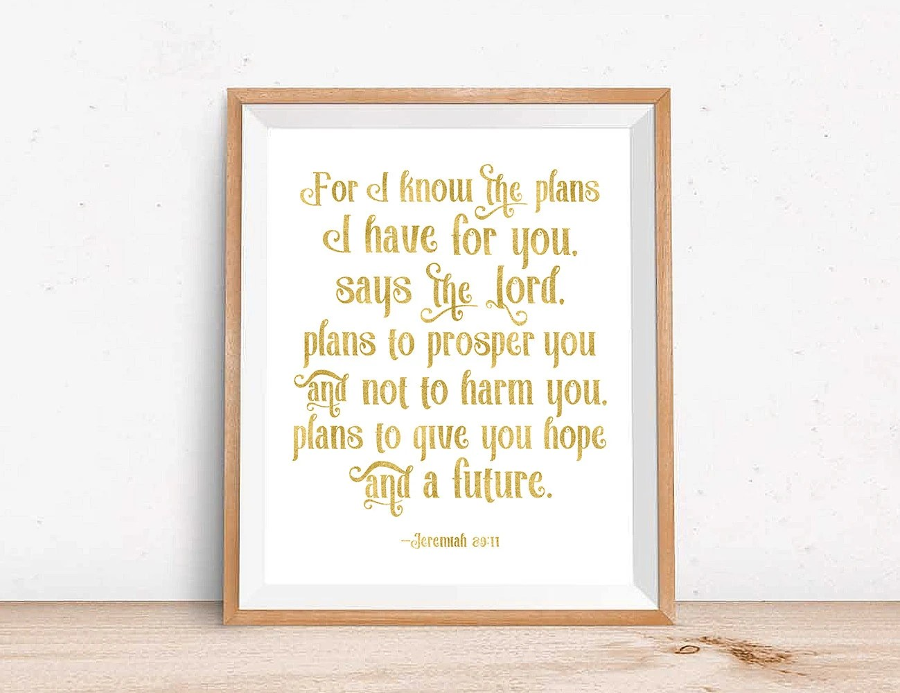 Lord Prosper You Have I And Plans Says Know Y Harm Plans I You Not