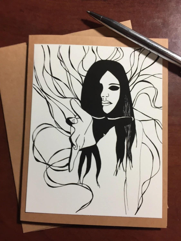 Haunting - Original Ink D...