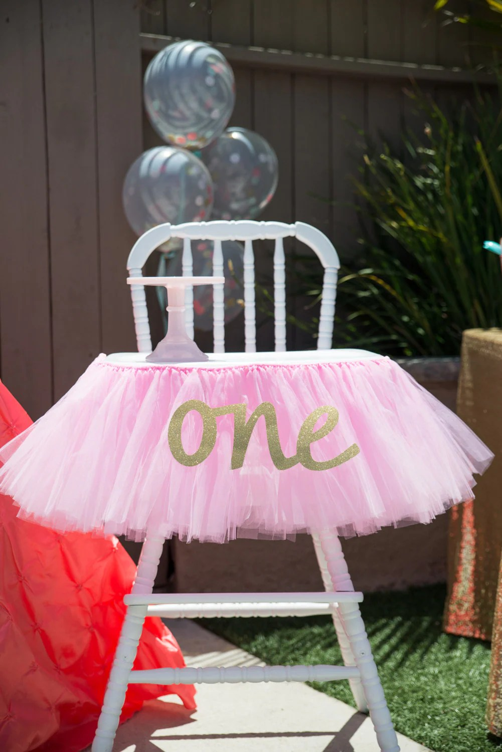 Pink Tutu High Chair Skirt