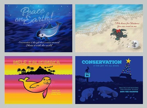 Conservation 12 Pack Holiday Cards