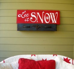 Let It Snow Sign from OurDadsWoodshop
