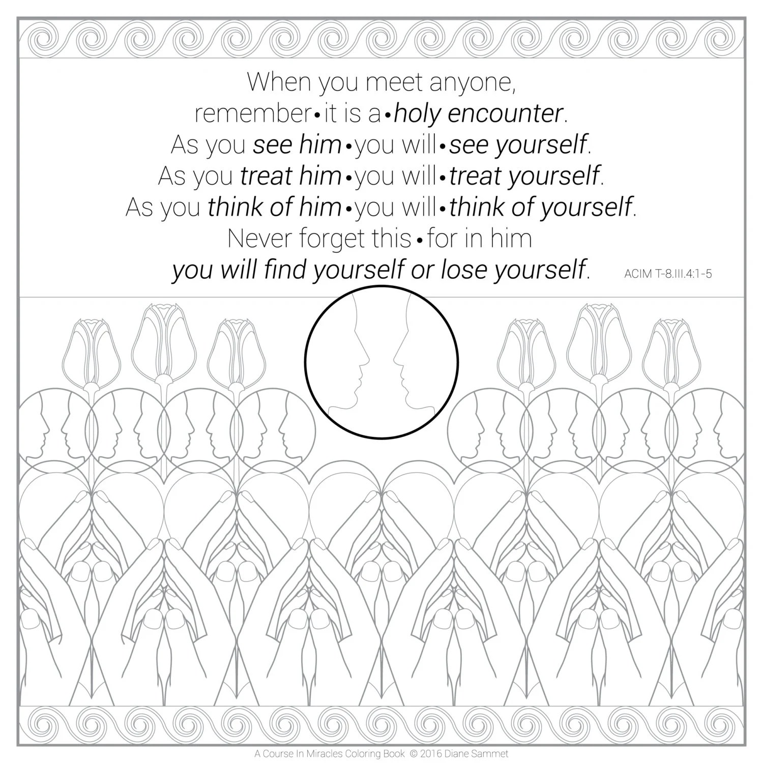 A Coloring Book Based On Course In Miracles
