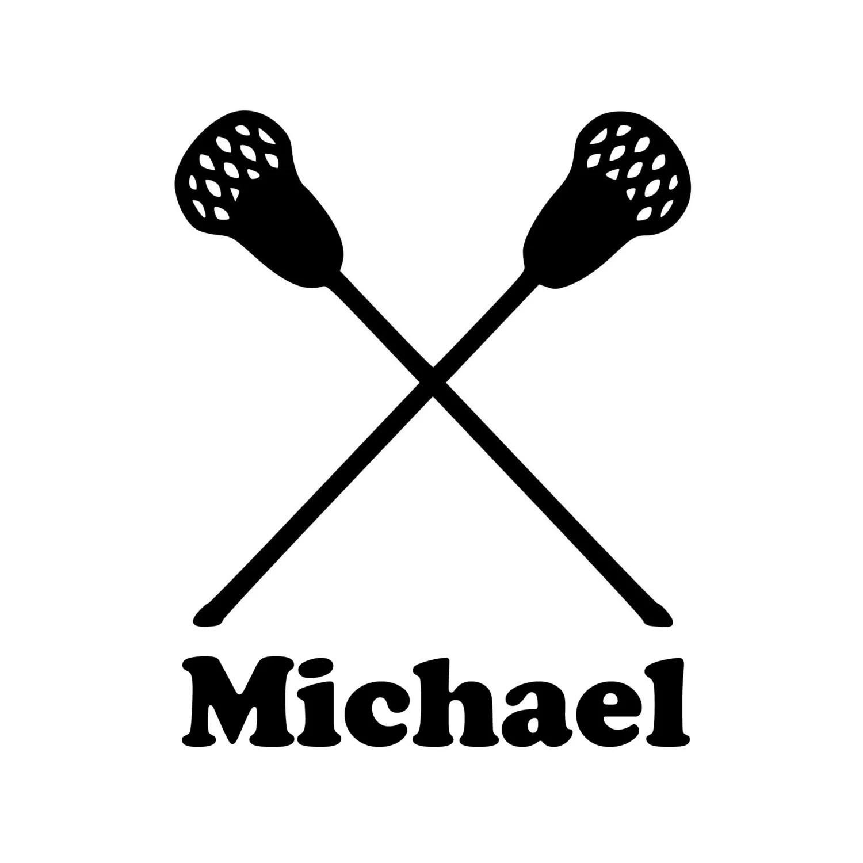 Lacrosse Sticks Vinyl Decal Sticker With Custom
