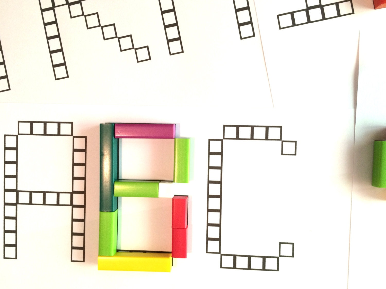 Alphabet Font For Cuisenaire Rods Digital Download