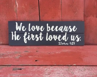 Download John 15:12 Love each other as I have Loved you wood sign