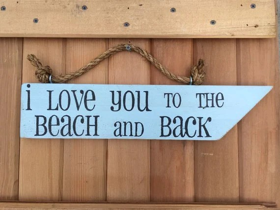 Download Beach signs beach decor i love you to the beach and back