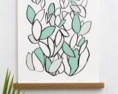 Leaf Pattern Art Print, T...