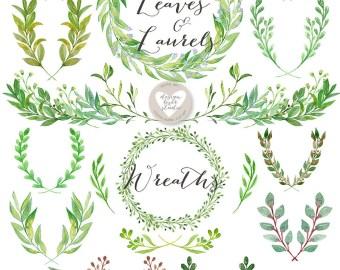 laurel leaf wreath etsy