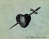 Heart Pierced by Sword Da...