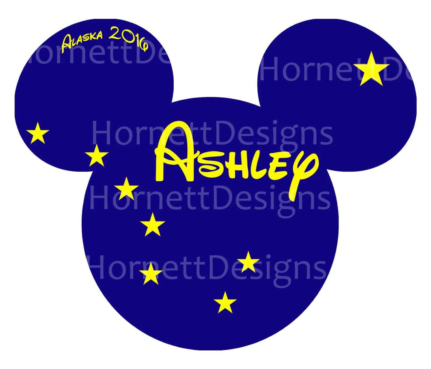 Printable Disney Cruise Magnet Alaska Flag Personalized
