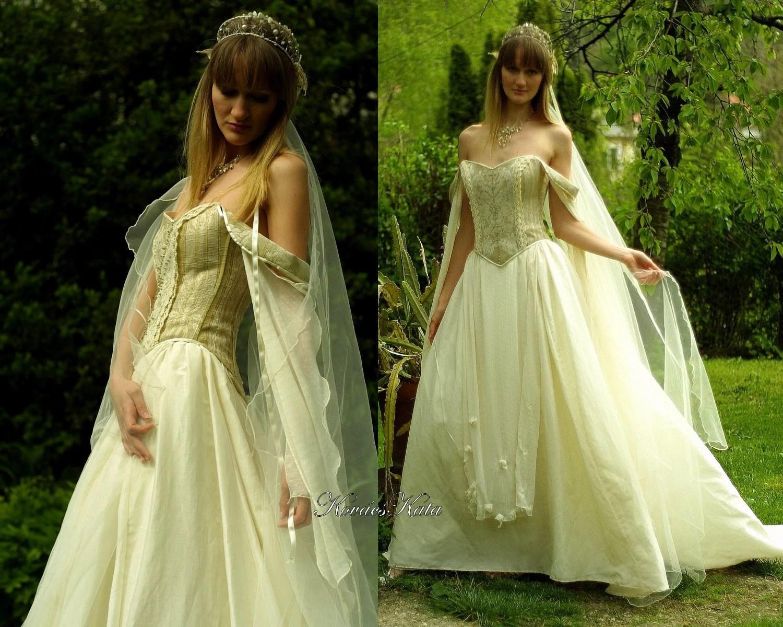 Medieval Renaissance Style Alternative Corset Wedding Gown